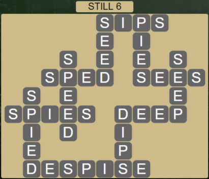 Wordscapes Reflect Still 6 - Level 3542 Answers