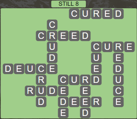 Wordscapes Reflect Still 8 - Level 3544 Answers