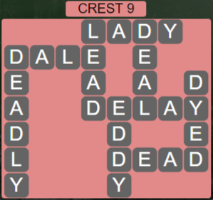 Wordscapes Reflect Crest 9 - Level 3561 Answers