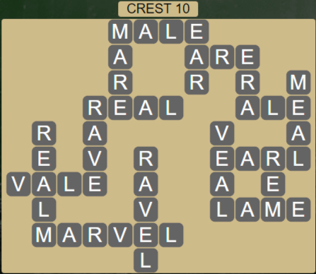 Wordscapes Reflect Crest 10 - Level 3562 Answers