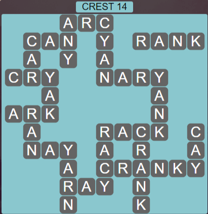 Wordscapes Reflect Crest 14 - Level 3566 Answers