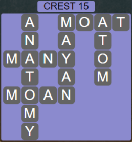 Wordscapes Reflect Crest 15 - Level 3567 Answers