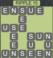 Wordscapes Reflect Ripple 15 - Level 3583 Answers