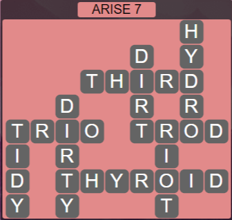 Wordscapes Reflect Arise 7 - Level 3591 Answers