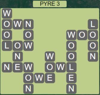Wordscapes Majesty Pyre 3 - Level 3603 Answers