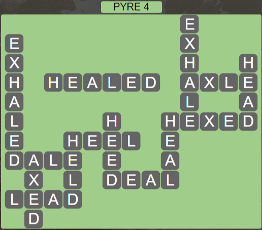 Wordscapes Majesty Pyre 4 - Level 3604 Answers