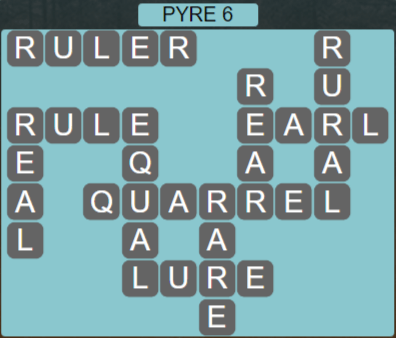 Wordscapes Majesty Pyre 6 - Level 3606 Answers