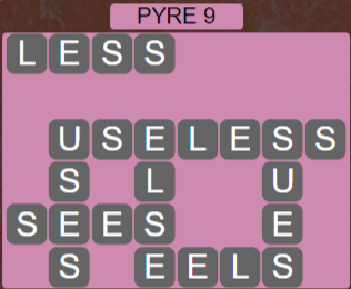 Wordscapes Majesty Pyre 9 - Level 3609 Answers
