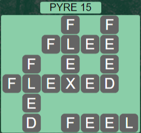 Wordscapes Majesty Pyre 15 - Level 3615 Answers