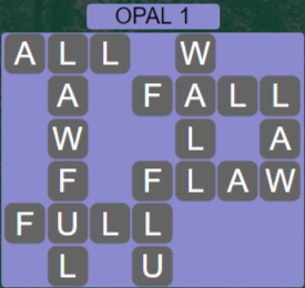 Wordscapes Majesty Opal 1 - Level 3617 Answers