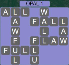 Wordscapes Majesty Opal 1 - Level 3617 Answers