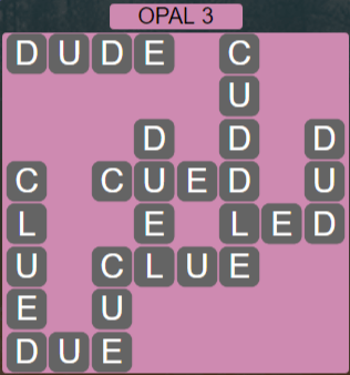 Wordscapes Majesty Opal 3 - Level 3619 Answers