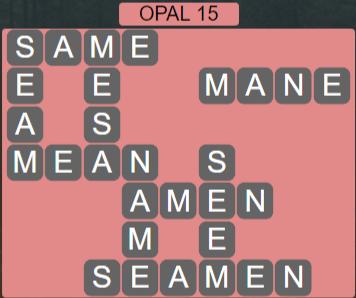 Wordscapes Majesty Opal 15 - Level 3631 Answers