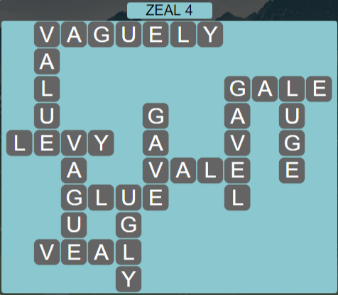 Wordscapes Majesty Zeal 4 - Level 3636 Answers
