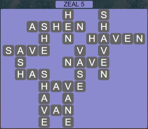 Wordscapes Majesty Zeal 5 - Level 3637 Answers