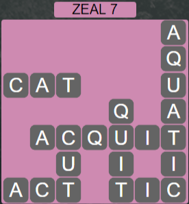 Wordscapes Majesty Zeal 7 - Level 3639 Answers