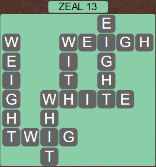 Wordscapes Majesty Zeal 13 - Level 3645 Answers