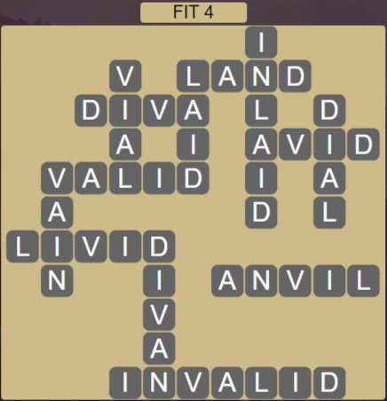 Wordscapes Majesty Fit 4 - Level 3652 Answers