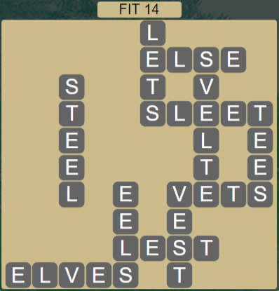 Wordscapes Majesty Fit 14 - Level 3662 Answers