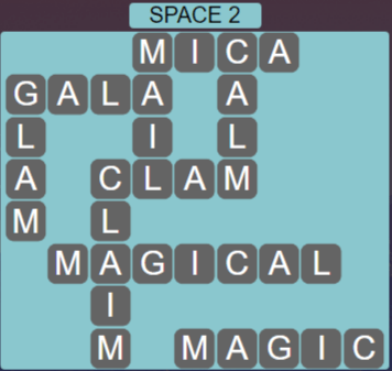 Wordscapes Majesty Space 2 - Level 3666 Answers