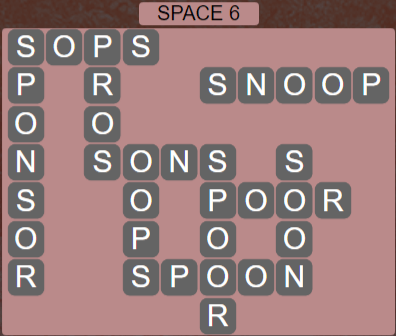 Wordscapes Majesty Space 6 - Level 3670 Answers