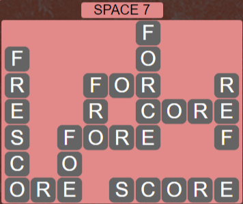 Wordscapes Majesty Space 7 - Level 3671 Answers