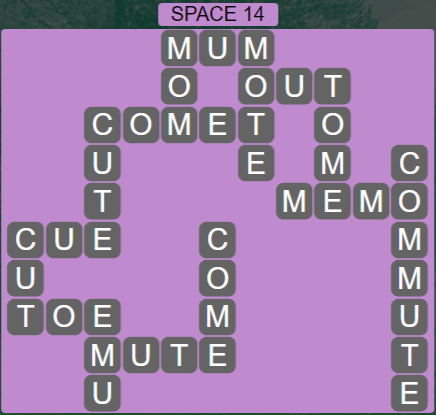 Wordscapes Majesty Space 14 - Level 3678 Answers