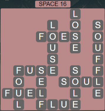 Wordscapes Majesty Space 16 - Level 3680 Answers