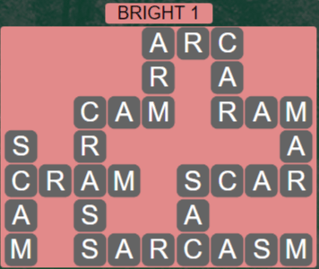 Wordscapes Astral Bright 1 - Level 3681 Answers