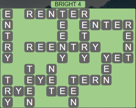 Wordscapes Astral Bright 4 - Level 3684 Answers
