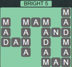 Wordscapes Astral Bright 5 - Level 3685 Answers