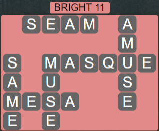 Wordscapes Astral Bright 11 - Level 3691 Answers