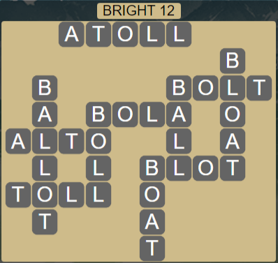 Wordscapes Astral Bright 12 - Level 3692 Answers