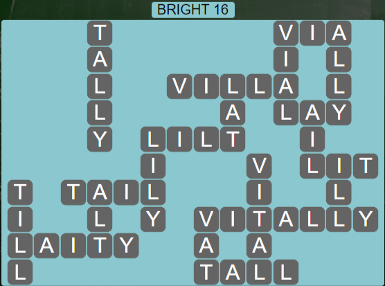 Wordscapes Astral Bright 16 - Level 3696 Answers