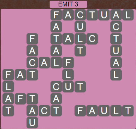 Wordscapes Astral Emit 3 - Level 3699 Answers