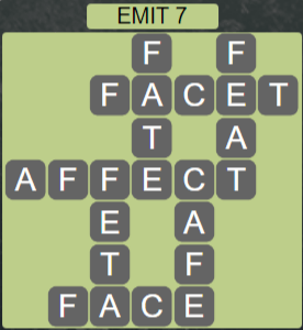 Wordscapes Astral Emit 7 - Level 3703 Answers
