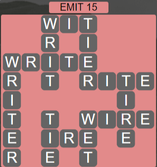 Wordscapes Astral Emit 15 - Level 3711 Answers