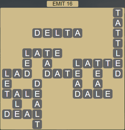 Wordscapes Astral Emit 16 - Level 3712 Answers
