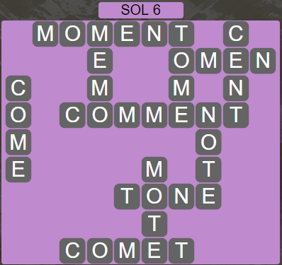 Wordscapes Astral Sol 6 - Level 3718 Answers
