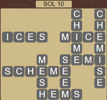 Wordscapes Astral Sol 10 - Level 3722 Answers