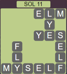 Wordscapes Astral Sol 11 - Level 3723 Answers