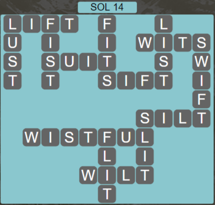 Wordscapes Astral Sol 14 - Level 3726 Answers