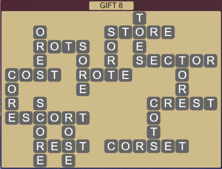 Wordscapes Astral Gift 8 - Level 3752 Answers