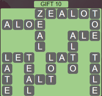 Wordscapes Astral Gift 10 - Level 3754 Answers