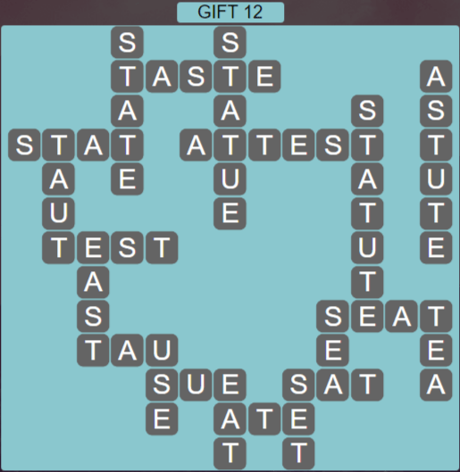 Wordscapes Astral Gift 12 - Level 3756 Answers