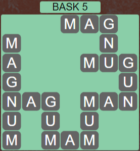 Wordscapes Stone Bask 5 - Level 3765 Answers