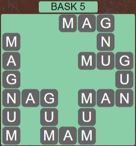 Wordscapes Stone Bask 5 - Level 3765 Answers