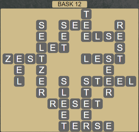 Wordscapes Stone Bask 12 - Level 3772 Answers