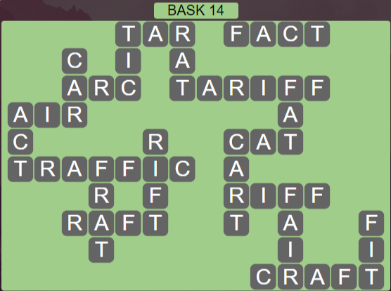 Wordscapes Stone Bask 14 - Level 3774 Answers