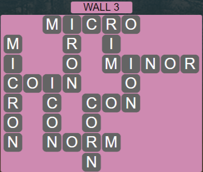 Wordscapes Stone Wall 3 - Level 3779 Answers